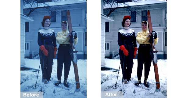 Mom Skis Before and After
