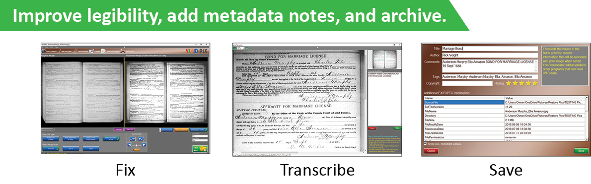 Improve legibility, add metadata notes, and archive.