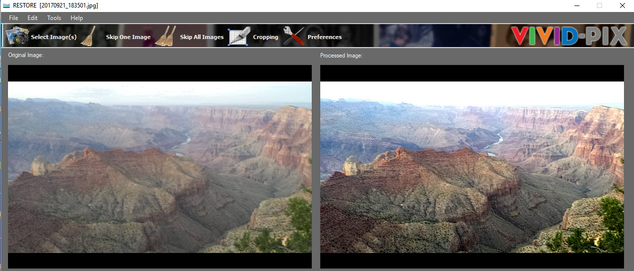Grand Canyon Rim Before After 2