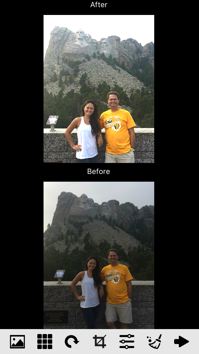 mount rushmore before and after by Vividpix